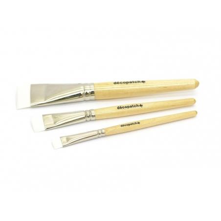 3 pinceaux à colle en nylon - n°10-17-30 Décopatch - 1