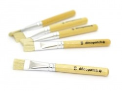 5 small paintbrushes/glue brushes - no. 5 Décopatch - 1