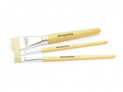 3 bristle paintbrushes/glue brushes  Décopatch - 1