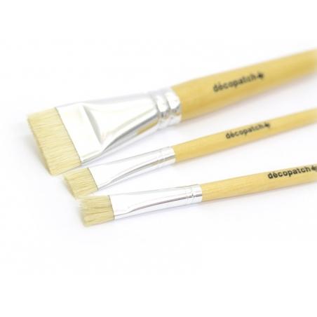 3 pinceaux à colle pure soie  Décopatch - 4
