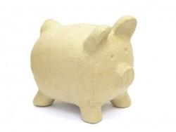 Big piggy bank - papier mâché, customisable