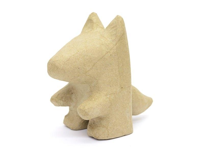 Loup  - papier mâché à customiser