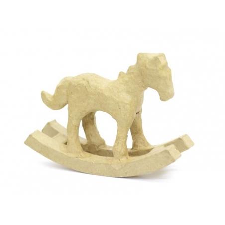 Cheval à bascule  - papier mâché à customiser