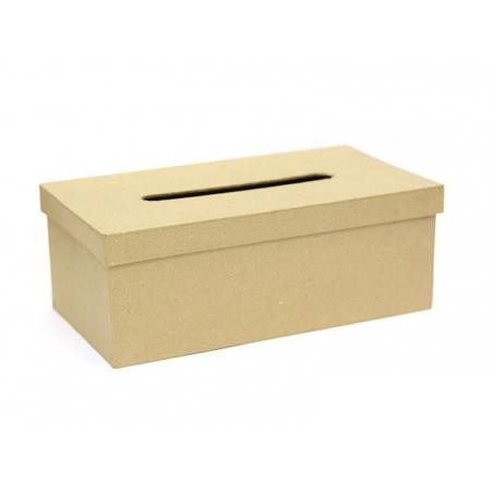 Boîte à mouchoirs - papier mâché à customiser Décopatch - 3