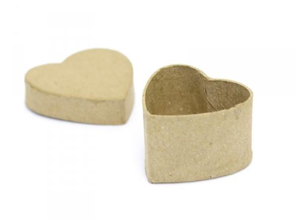 Mini boîte coeur - papier mâché à customiser Décopatch - 1