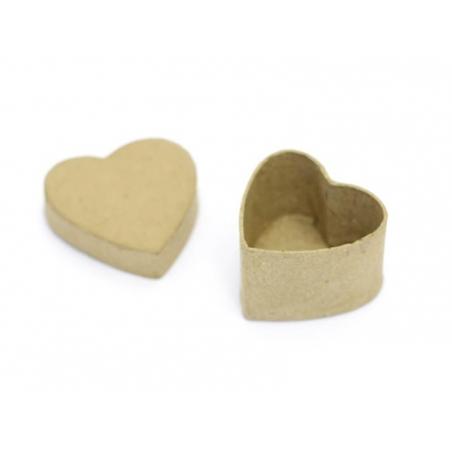 Mini boîte coeur - papier mâché à customiser Décopatch - 2