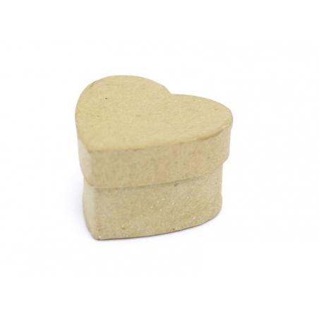 Mini boîte coeur - papier mâché à customiser Décopatch - 3