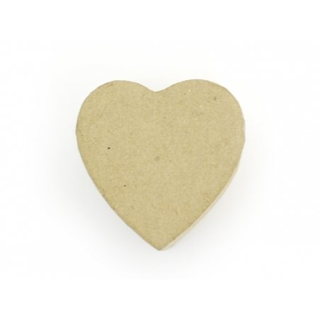 Mini boîte coeur - papier mâché à customiser Décopatch - 4
