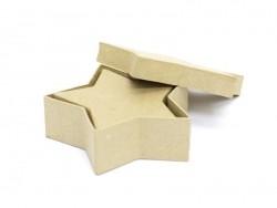 2 sternförmige Schachteln - aus Pappmaschee, zur individuellen Gestaltung