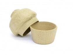 Cupcakeschachtel - aus Pappmaschee, zur individuellen Gestaltung