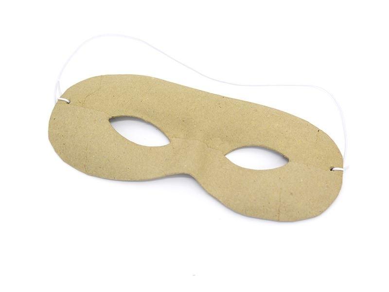 Rounded mask - papier mâché, customisable