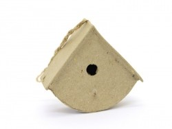 Mini nichoir d'oiseau à suspendre - arrondi  - papier mâché à customiser Décopatch - 1
