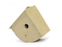 Kleines Vogelhaus zum Aufhängen - abgerundet - aus Pappmaschee, zur individuellen Gestaltung