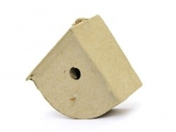 Small birdhouse that can be hung on a wall - rounded - papier mâché, customisable
