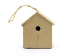 Kleines Vogelhaus zum Aufhängen - Haus - aus Pappmachschee, zur individuellen Gestaltung
