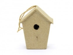 Small birdhouse that can be hung on a wall - small house - papier mâché, customisable