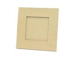 Viereckiger Bilderrahmen (19,5 cm) - aus Pappmaschee, zur individuellen Gestaltung