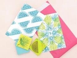 """RECHARGE pour Kit de création de tampons """"Carve-a-stamp-kit"""""""