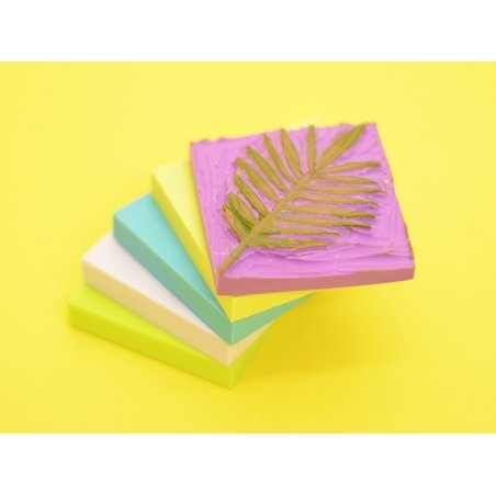Rubber carving block for the creation of stamps - violet