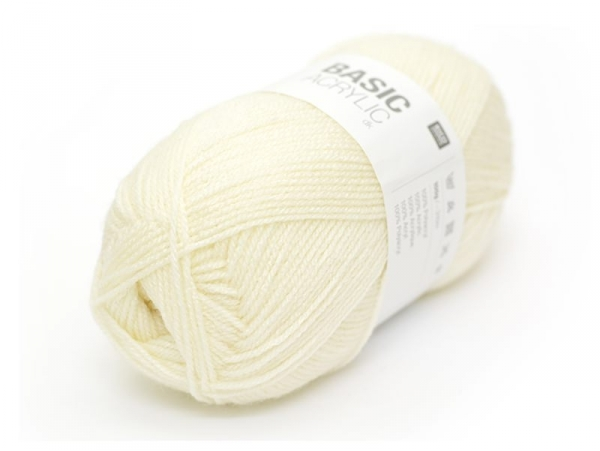 "Knitting wool - ""Basic Acrylic"" - Off-white"