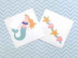 2 Tattoos - Meerjungfrau und Muscheln