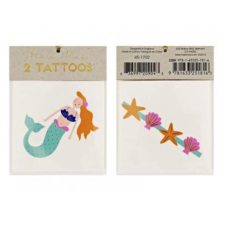 Acheter 2 Tatouages sirène et coquillages - 2,19€ en ligne sur La Petite Epicerie - 100% Loisirs créatifs