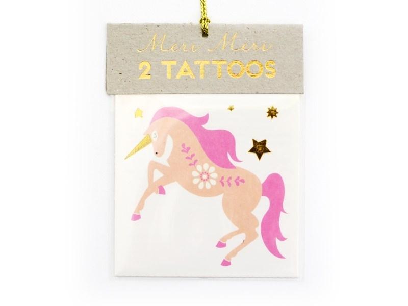 2 Tatouages licorne et arc-en-ciel