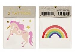 Acheter 2 Tatouages licorne et arc-en-ciel - 2,19€ en ligne sur La Petite Epicerie - 100% Loisirs créatifs