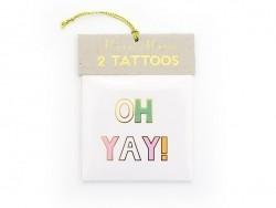 """2 Schrifttattoos - """"Hooray!"""" und """"Oh yay!"""""""