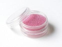 Pale pink, translucent microbeads