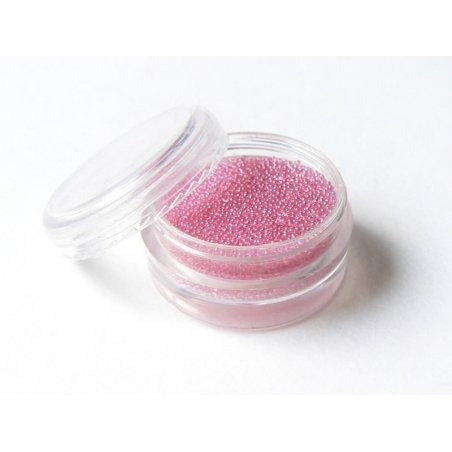 Pale pink, translucent microbeads