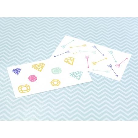 Acheter 21 Tatouages graphiques - flèches et diamants - 2,49€ en ligne sur La Petite Epicerie - Loisirs créatifs