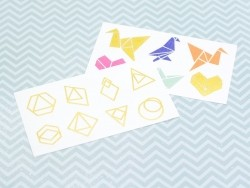 14 Graphiktattoos - Origamifiguren und Diamanten