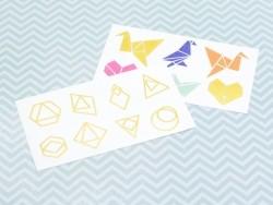 14 Tatouages graphiques - origamis et diamants