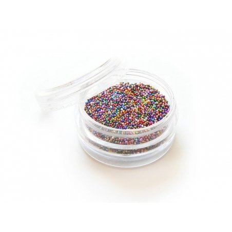 Metallic microbeads in different colours