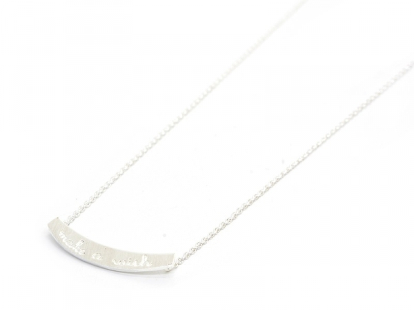 Collier fin make a wish  -  argenté clair  - 1