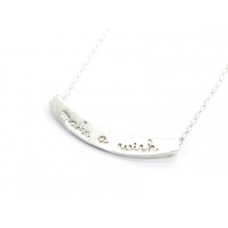 Collier fin make a wish  -  argenté clair  - 2