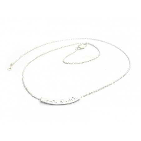 Collier fin make a wish  -  argenté clair  - 3