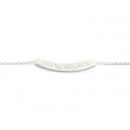 Collier fin make a wish  -  argenté clair  - 4