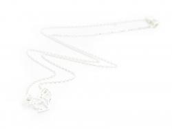 Zarte Halskette mit Origami-Eichhörnchenanhänger - hellsilber