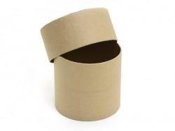 Runde Schachtel - aus Pappmaschee, zur individuellen Gestaltung