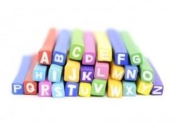 Set of 26 Fimo canes - Alphabet