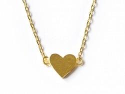 Zarte Halskette mit Herzanhänger - goldfarben