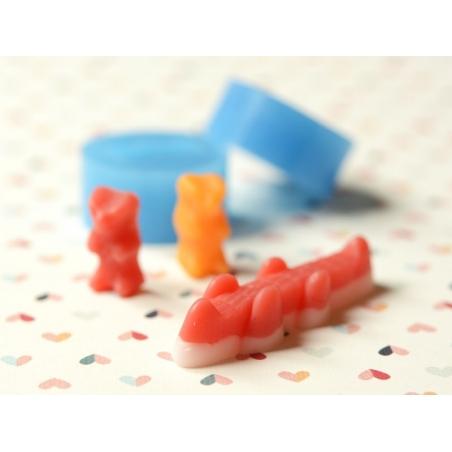 Silicone mould - crocodile gummy candy
