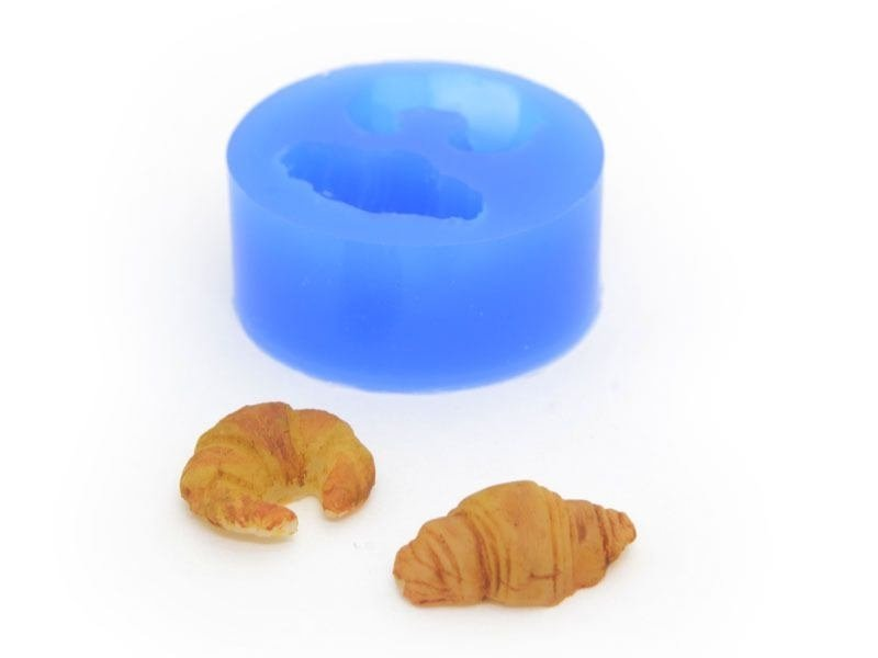 Silicone mould - 2 croissants