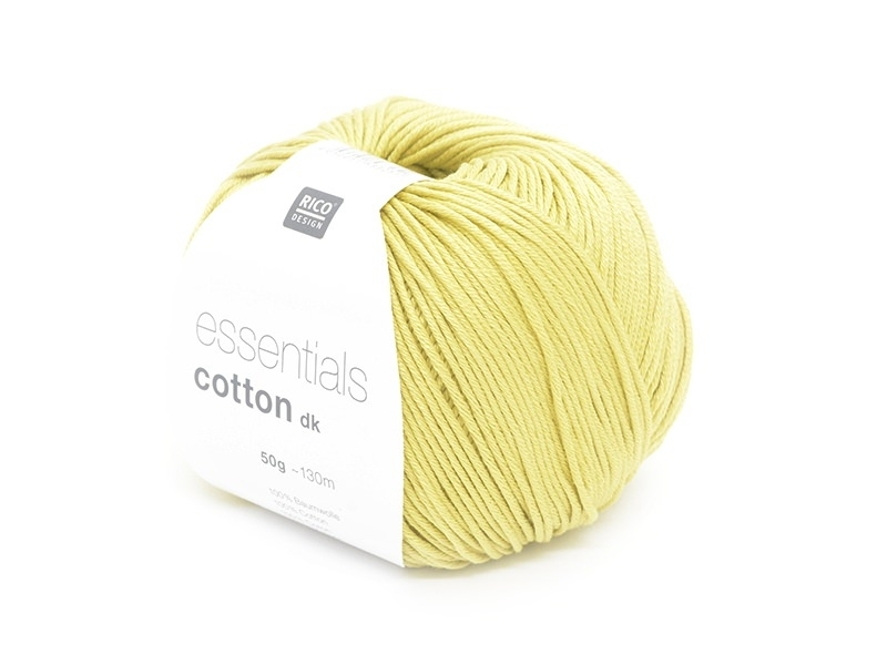 "Knitting cotton - ""Essentials"" - curry yellow"