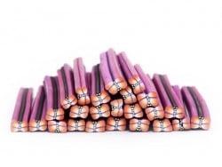 Acheter Cane papillon rose et violet en pâte polymère - 0,99€ en ligne sur La Petite Epicerie - Loisirs créatifs