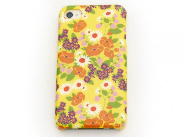 iPhone 4/4s case - Seraphine on a yellow background - Fifi Mandirac