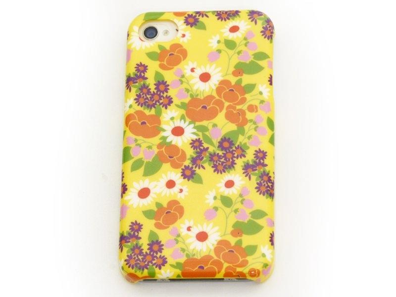 Coque d'iphone 4 - 4s SERAPHINE FOND JAUNE Fifi Mandirac Fifi Mandirac - 1