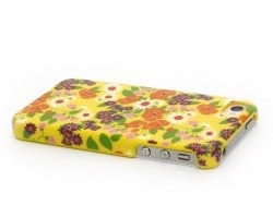 Coque d'iphone 4 - 4s SERAPHINE FOND JAUNE Fifi Mandirac